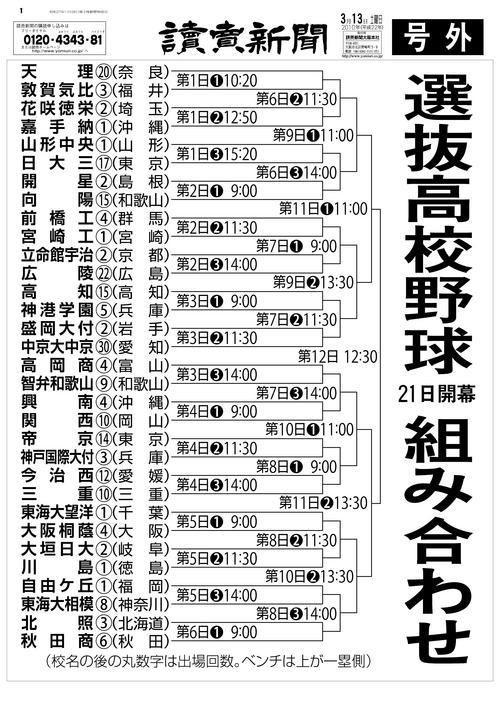 選抜 高校 野球 組み合わせ ライブ配信ページ - センバツLIVE!特集